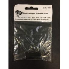 3.5mm Mono Jack Plug to 6.3mm Mono Jack Socket