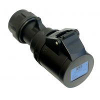 PCE Midnight Black Series 32 Amp 3 Pin Single Phase 240V Socket
