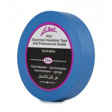 Le Mark PVC Electrical Insulation Tape 19mm - Blue - Pack of 8