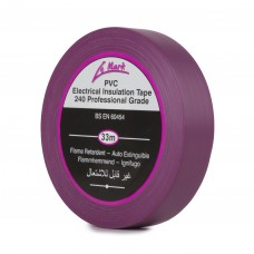 Le Mark PVC Electrical Insulation Tape 19mm - Violet - Pack of 8