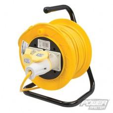 Power Master Cable Reel 110V Freestanding 2 Socket