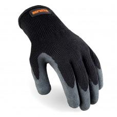 Scruffs Utility Latex-Coated Gloves Black - Large