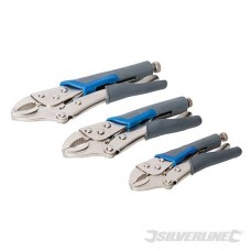 Silverline Self Locking Soft-Grip Pliers Set 3pce 675268