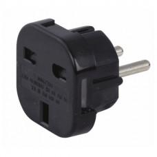 UK 13A Socket to Schuko Plug Adapter